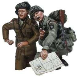 WW 198 toy soldier comandante carro británico paracaidista americano