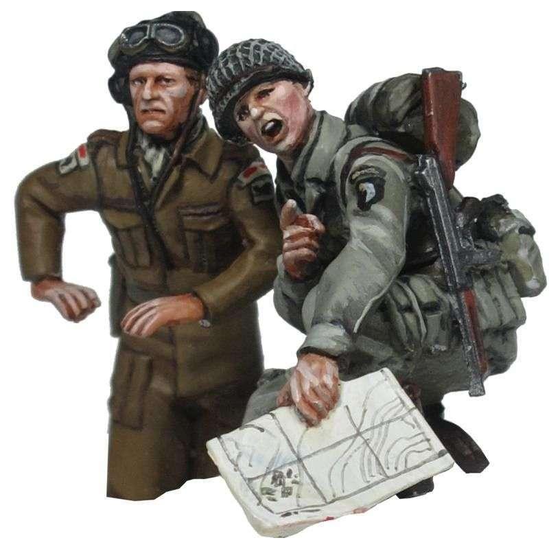 WW 198 Comandante de carro británico y paracaidista americano