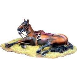 TYW 026 toy soldier caballo herido
