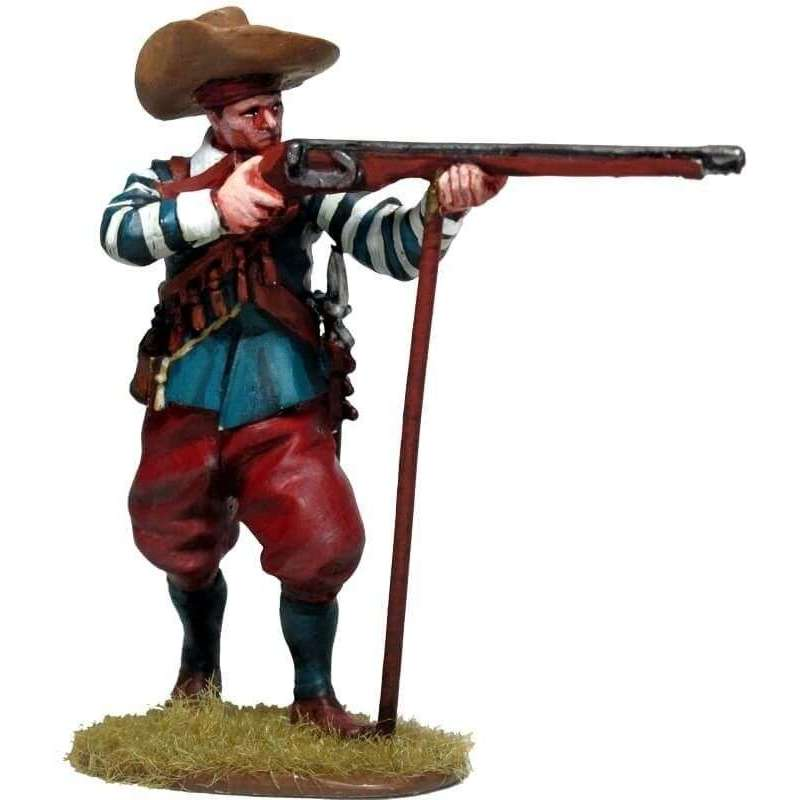 Mosquetero disparando chambergo