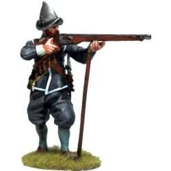 TYW 031 toy soldier firing musketeer morion