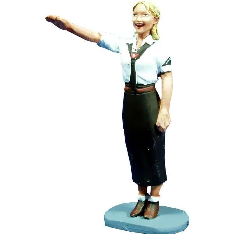 WW 060 Chica de las juventudes saludando