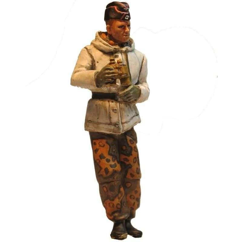 Oficial panzer SS camuflaje otoño