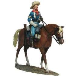 W 032 Sargento de caballería Estados Unidos en patrulla