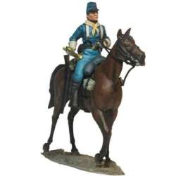 W 034 toy soldier US cavalry bugler trail