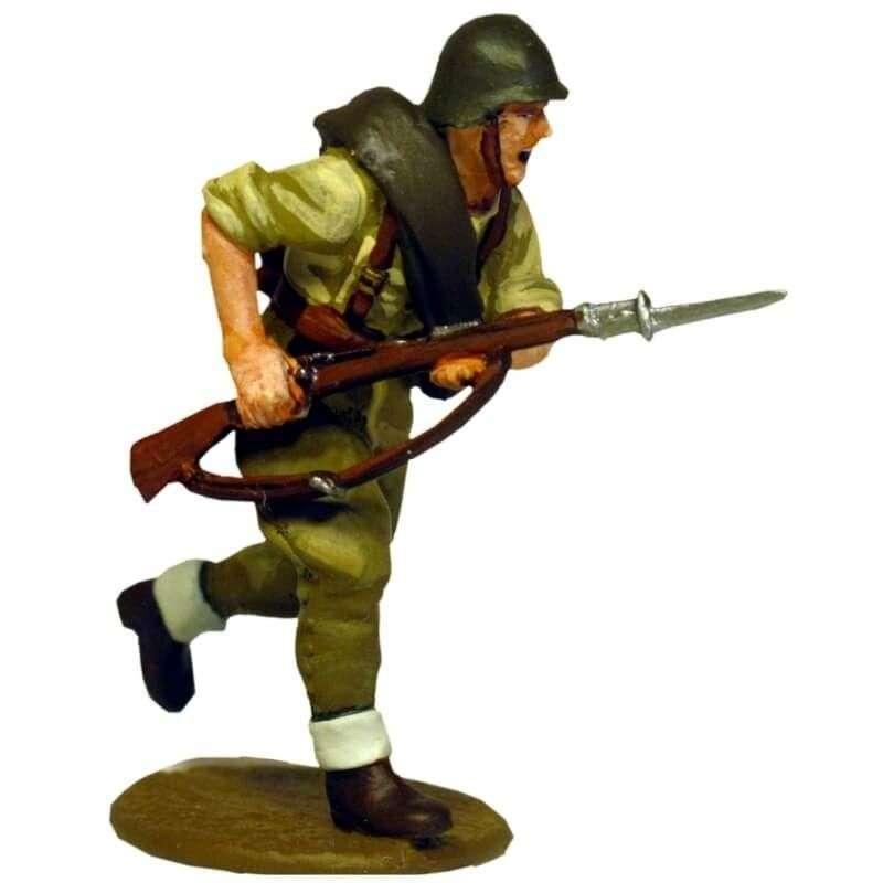 SCW 009 soldado infantería nacional corriendo guerra civil española