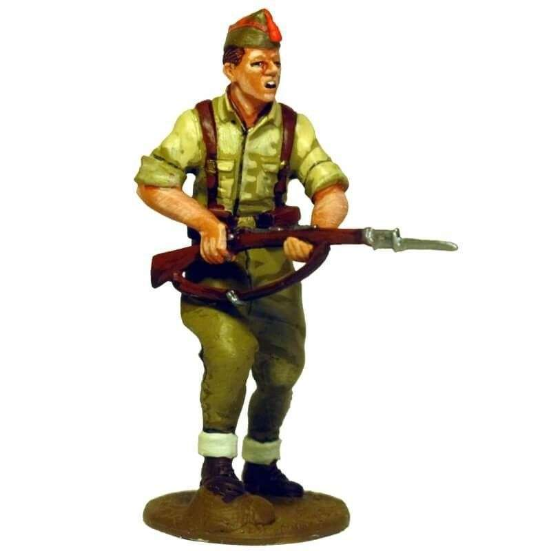Spanish nationalist infantryman advancing