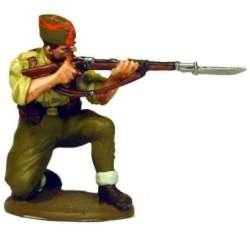 Spanish nationalist infantryman kneeling firing