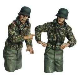 Artillería autopropulsada uniforme mimético medios cuerpos