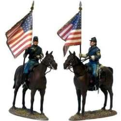W 042 toy soldier Bandera nacional caballería USA