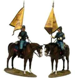 W 043 toy soldier US cavalry regimental color