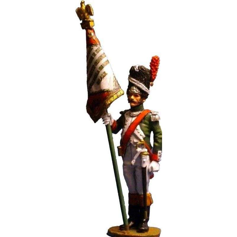 Italian royal guard grenadiers standard bearer