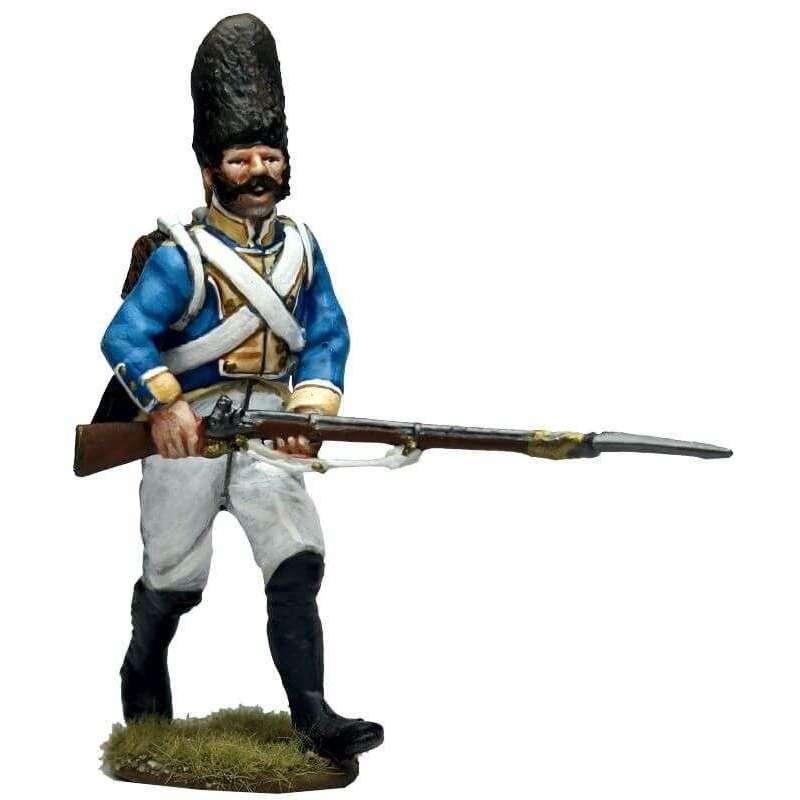 Granadero regimiento Irlanda avanzando