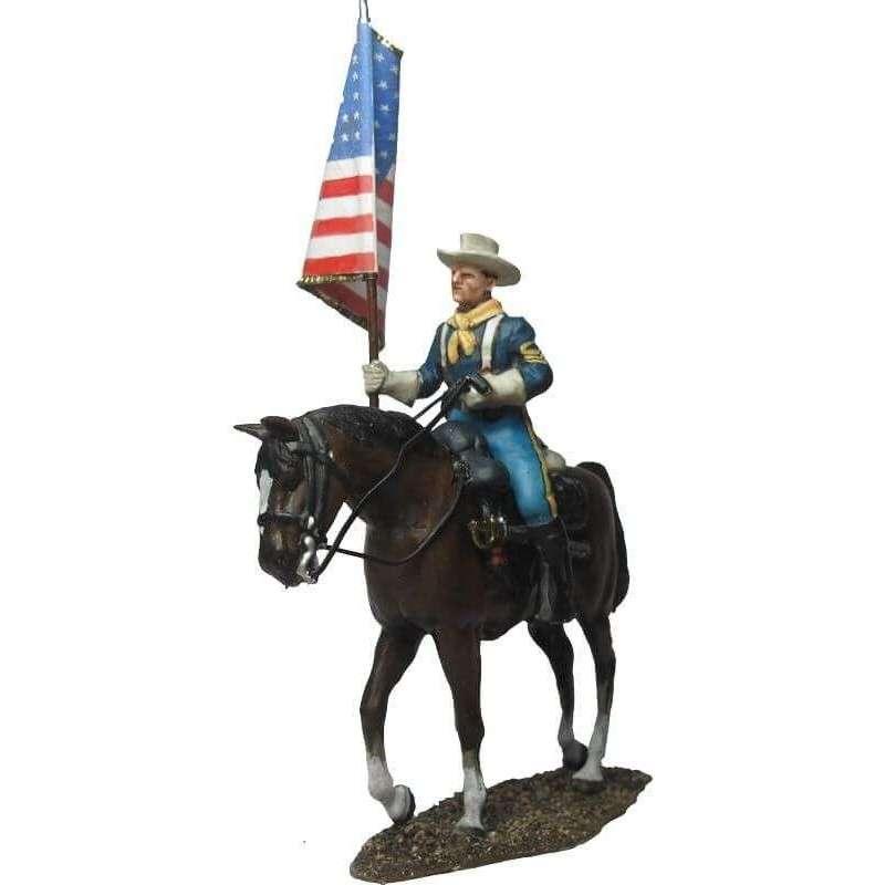 W 046 Bandera nacional caballería Estados Unidos uniforme marcha