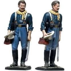 Coronel caballería USA recibiendo esposa