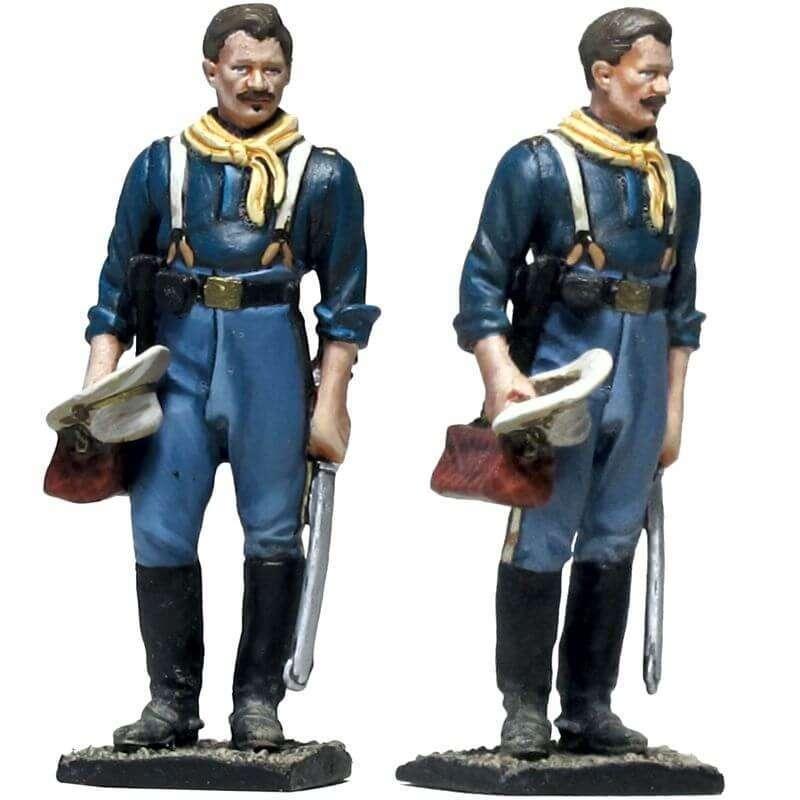 W 053 Coronel de caballería de los Estados Unidos recibiendo a su esposa