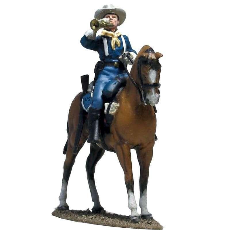 W 055 Corneta caballería Estados Unidos llamando a formación