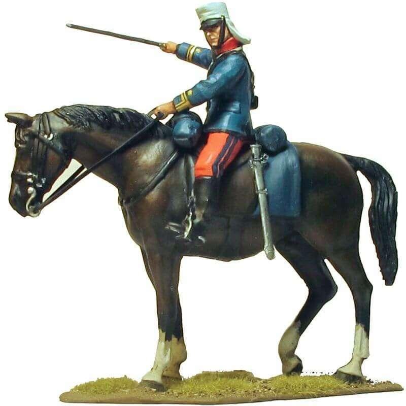 EE 008 Capitán regimiento infantería Málaga 1888 plaza montada