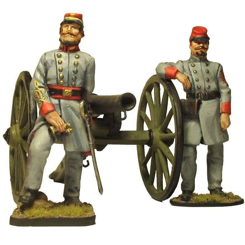 ACW 032 Cañón modelo Parrot con oficiales de artillería