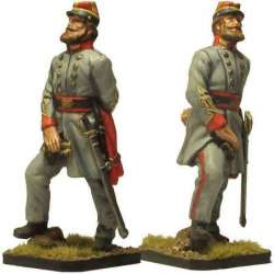 ACW 030 toy soldier coronel artillería confederación