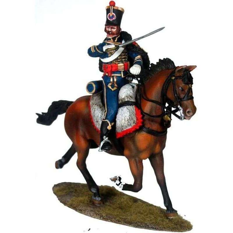 Húsar del cuarto regimiento de húsares franceses