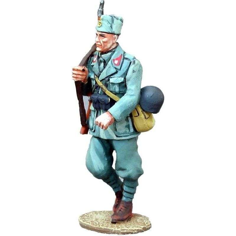 Sargento infantería italiano marchando