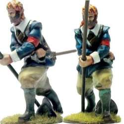 First line pikeman bareheaded