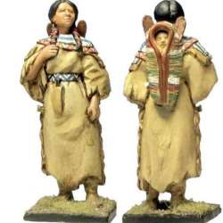 W 015 Sioux squaw toy soldier