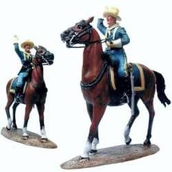 W 025 toy soldier capitán caballería US