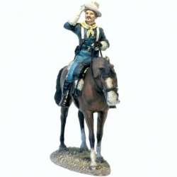 W 041 Coronel caballería Estados Unidos saludando