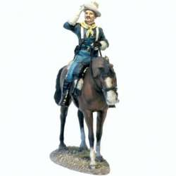 US cavalry colonel saluting