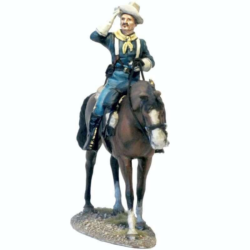 US cavalry colonel saluting