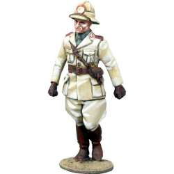 WW 149 toy soldier italian infantry officer marching Africa