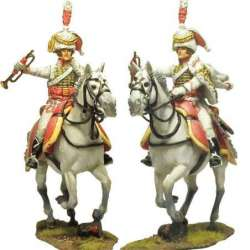 NP 661 Kingdom of Napoles royal guard husar regiment trumpeter