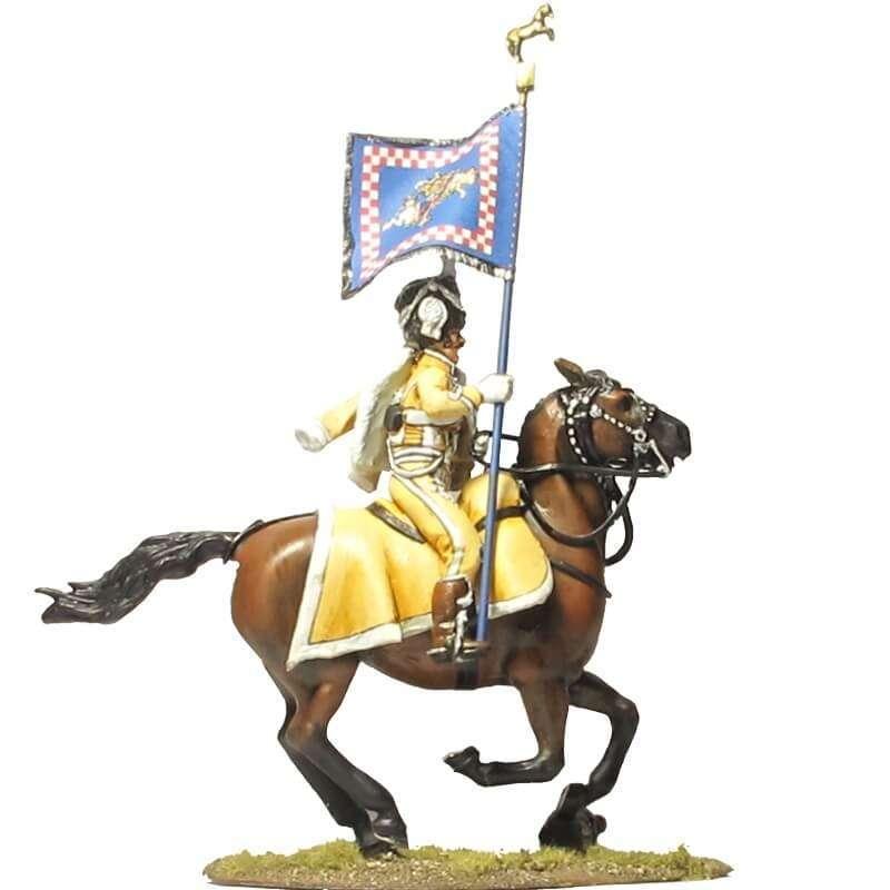 NP 663 Bandera regimiento húsares guardia real Nápoles