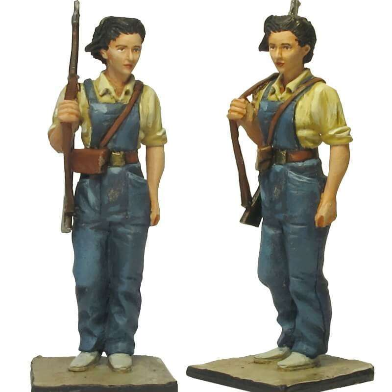 SCW 016 Joven miliciana Barcelona 1936