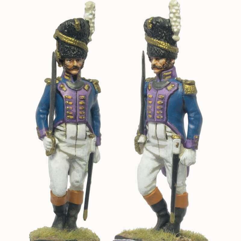 Oficial granaderos guardia real Nápoles