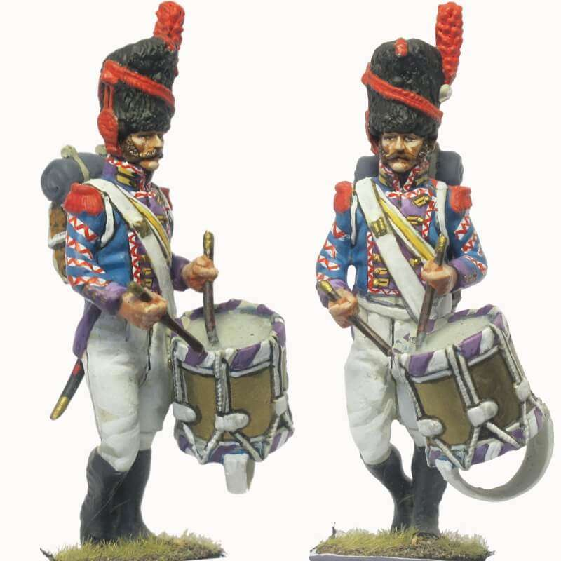 Kingdom of Napoles Royal guard grenadiers drummer