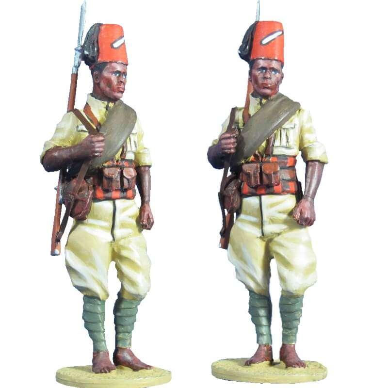 Ejército italiano soldado 66th eritrean colonial BN