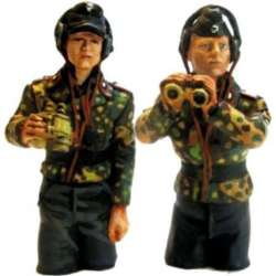 WW 158 toy soldier panzer commanders half bodies