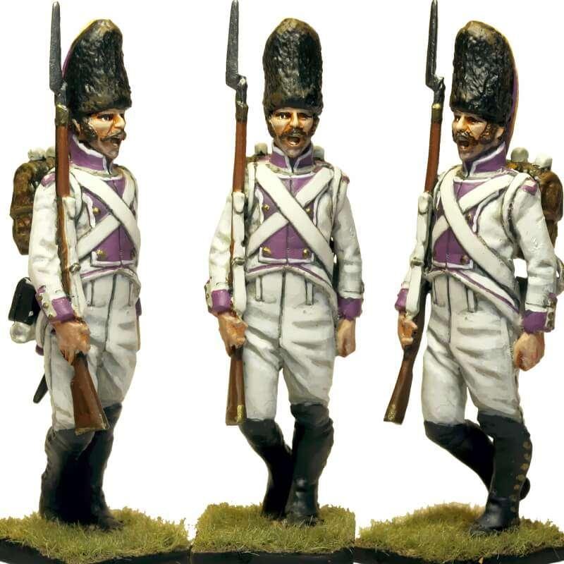 Sargento granadero Regimiento del Rey 1808