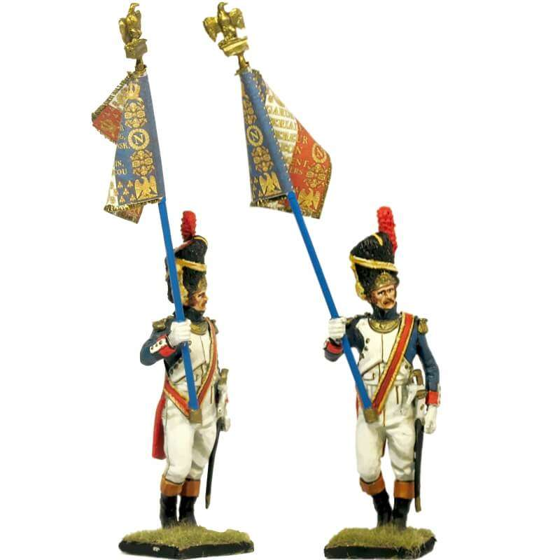 French imperial guard grenadier standard bearer