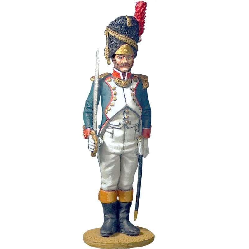Oficial granaderos infantería línea