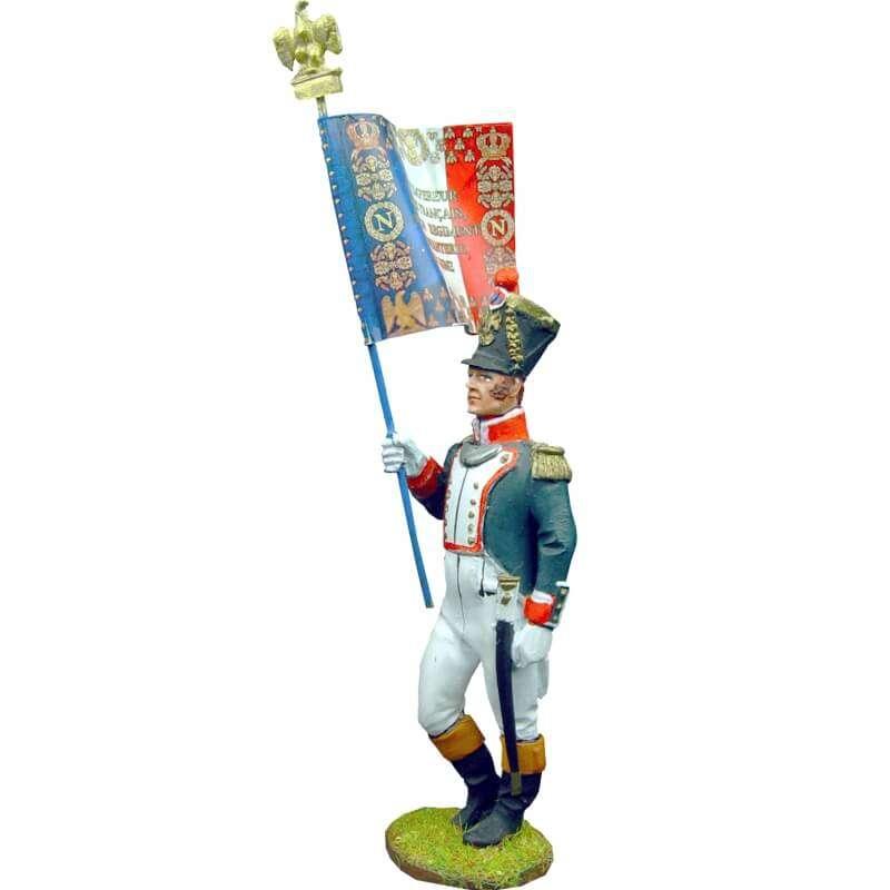 Bandera granaderos línea francesa 1815