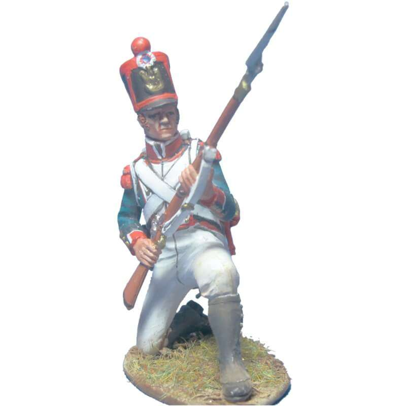 French line infantry grenadiers 1815 kneeling