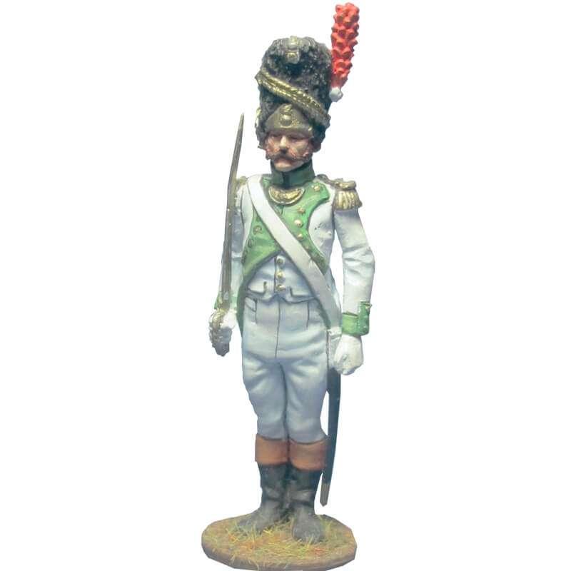 Oficial granaderos cuarto regimiento infantería línea