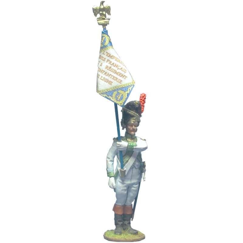 Bandera granaderos cuarto regimiento infantería línea