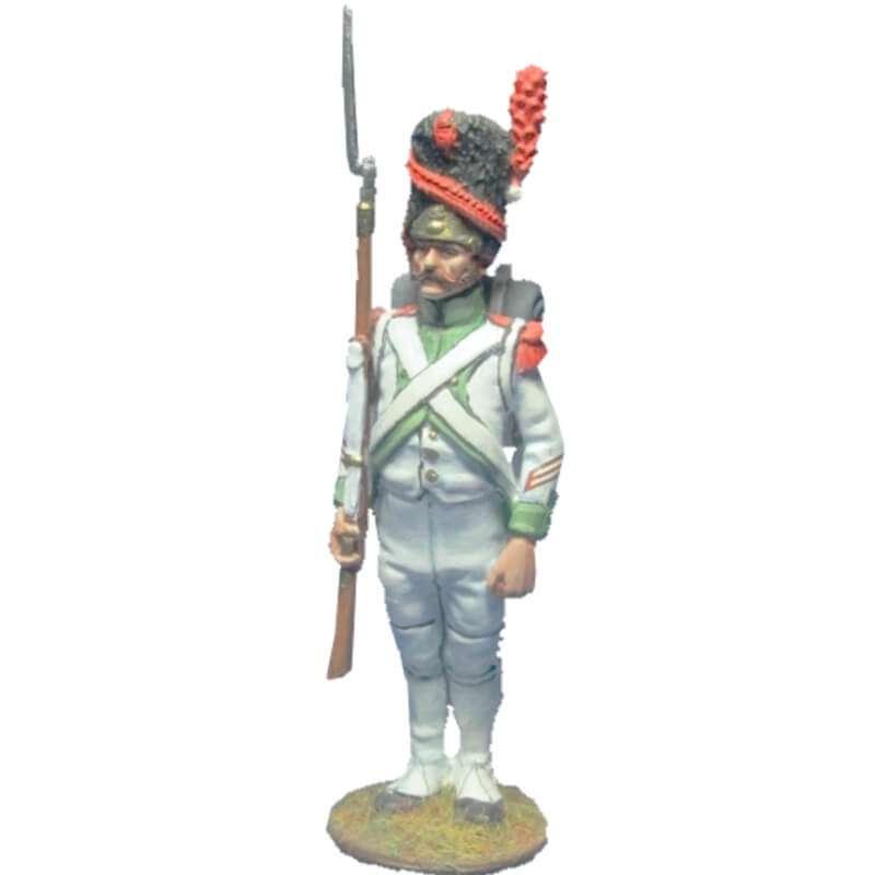 Sargento granaderos cuarto regimiento infantería línea