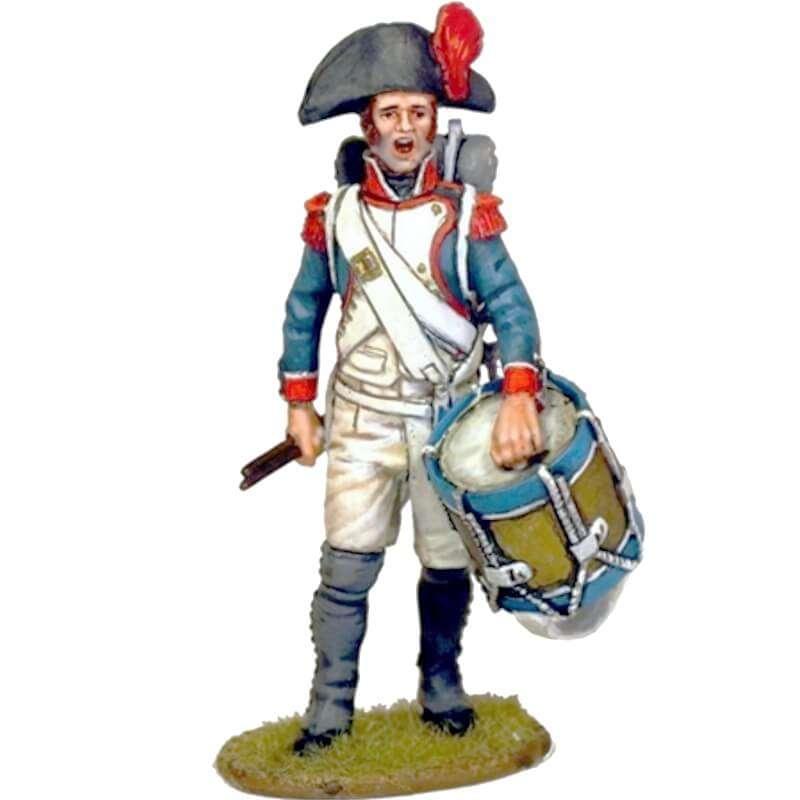 Tambor granaderos infantería línea francesa 1805