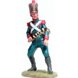 Soldado de artillería línea francesa con portamecha